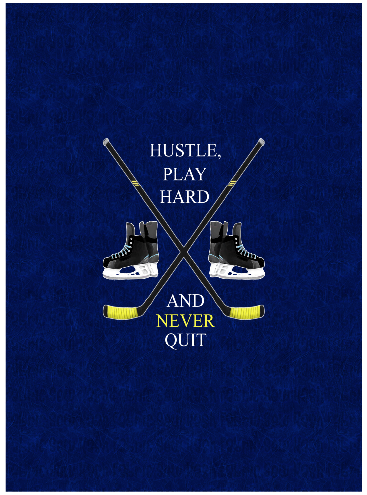 "HOCKEY HUSTLE... BIG KID PANEL (19""X27"")"