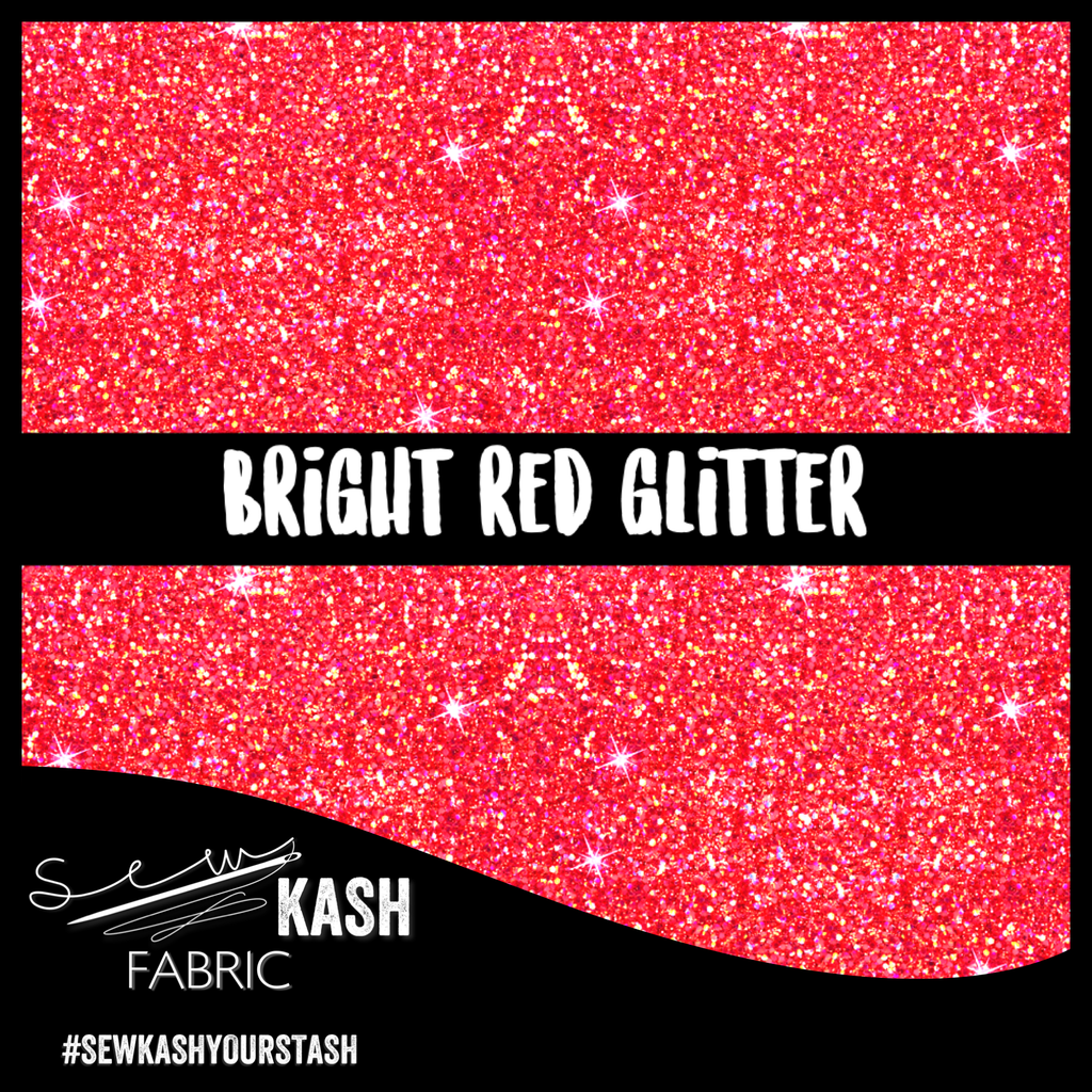 Bright Red Glitter COTTON LYCRA