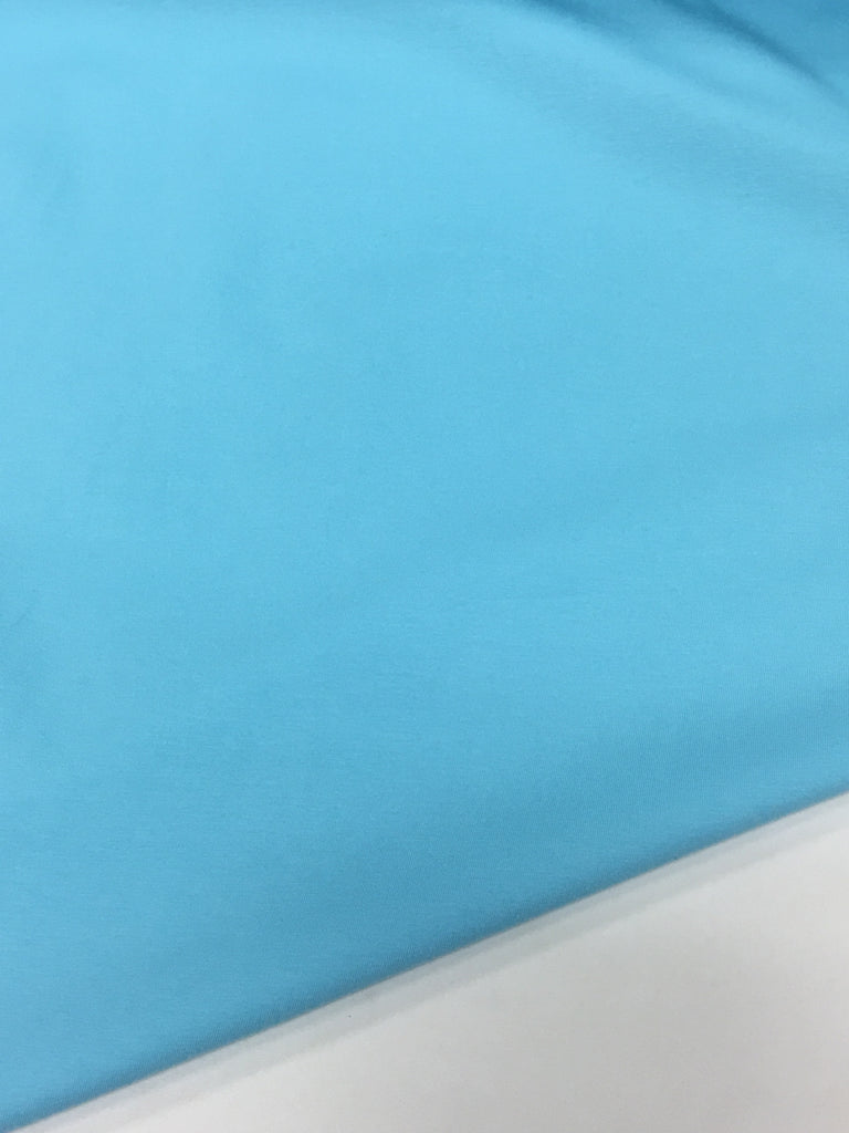 LAST ONE! Baby Blue Cotton Lycra Solid (3M CUT LEFT!)