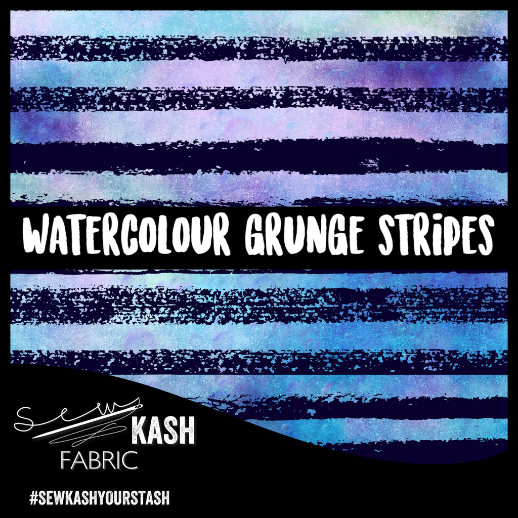 Watercolour Grunge Stripes COTTON LYCRA