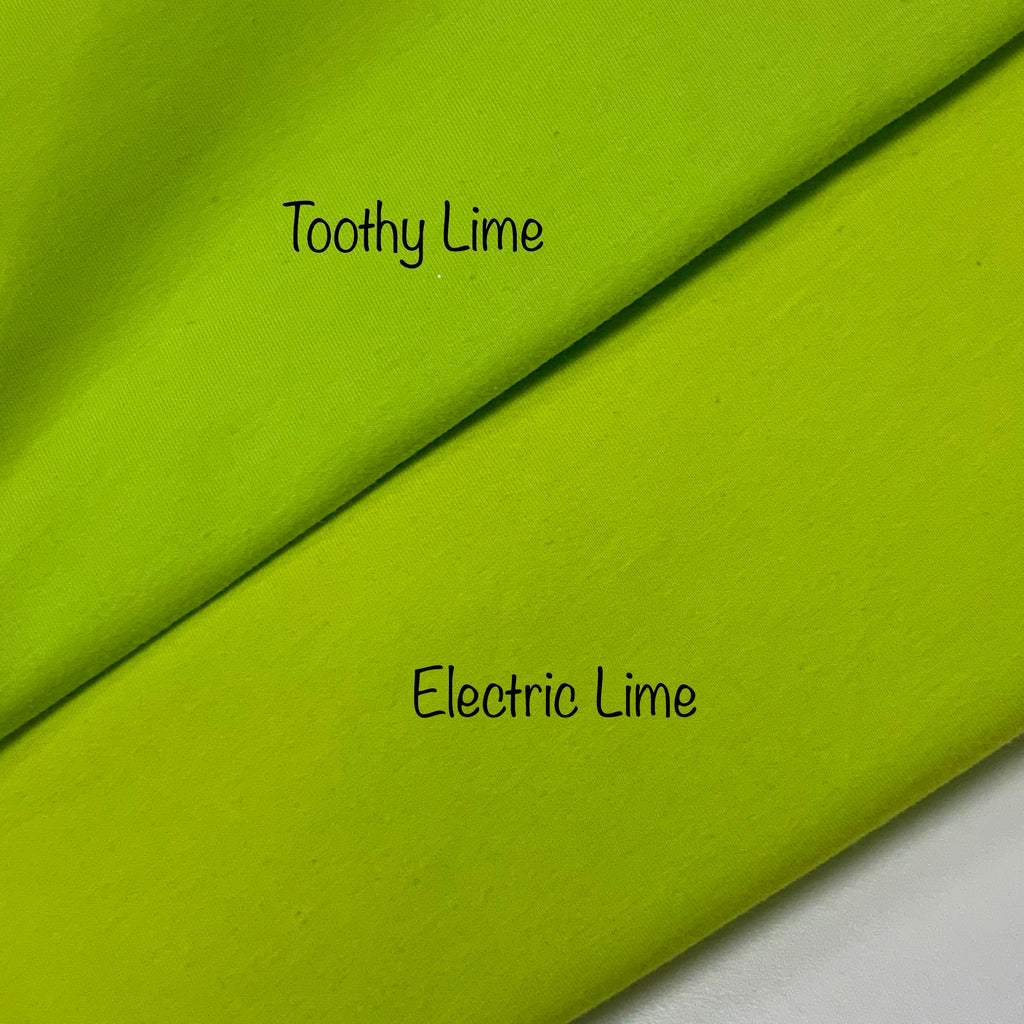 # 30 Toothy Lime Cotton Lycra Solid