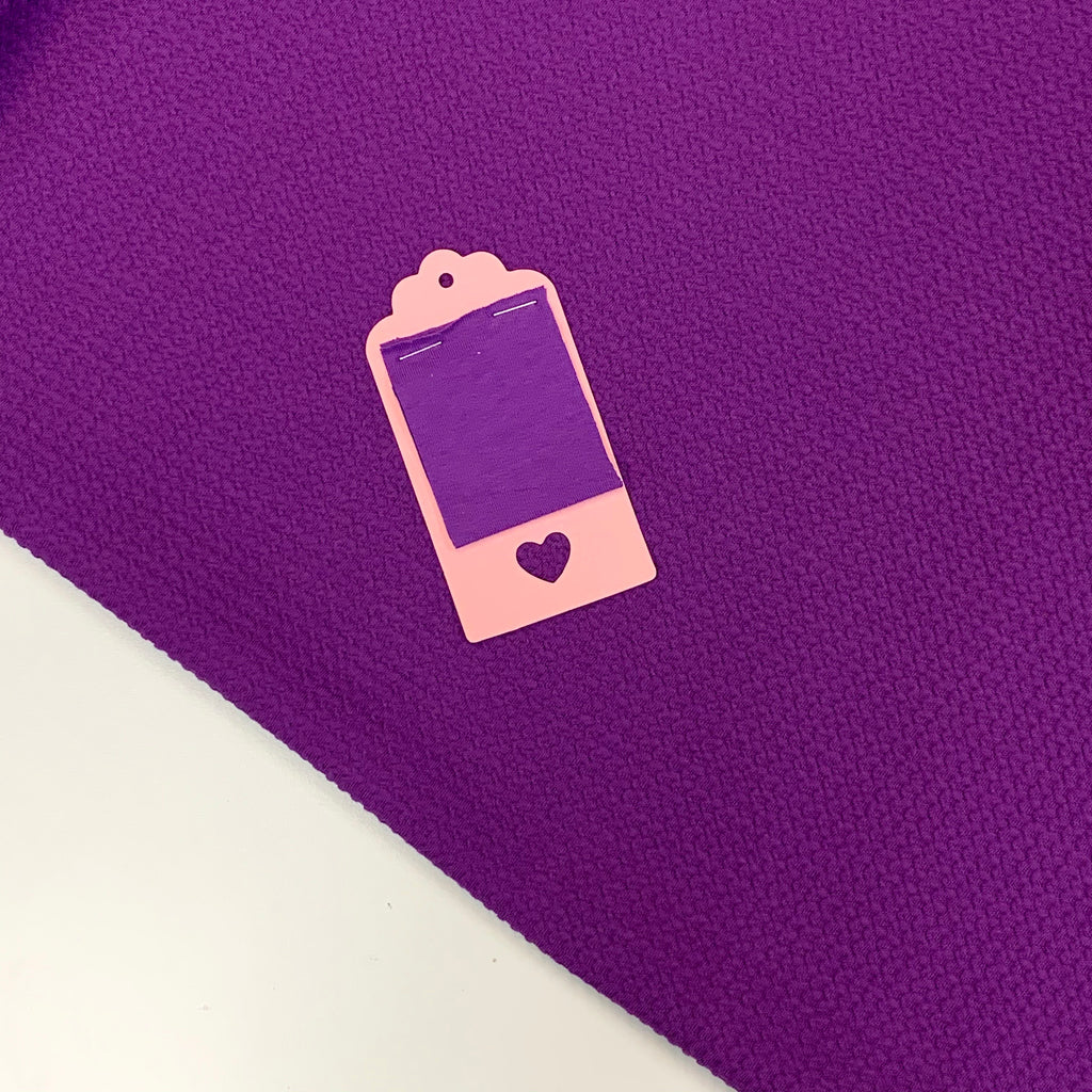 Bright Purple Cotton Lycra Waffle (2M CUT ONLY)