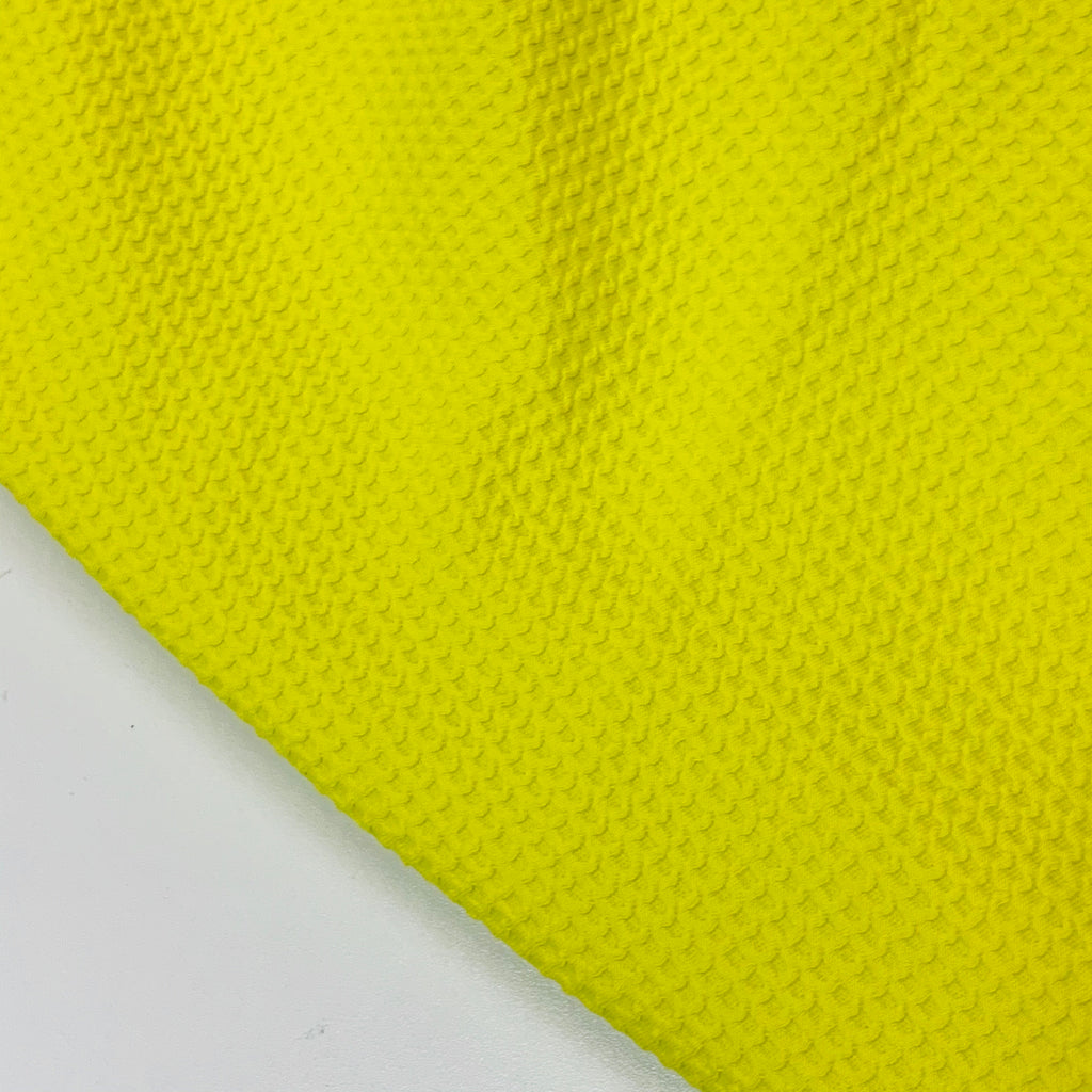 Bright Yellow Cotton Lycra Waffle