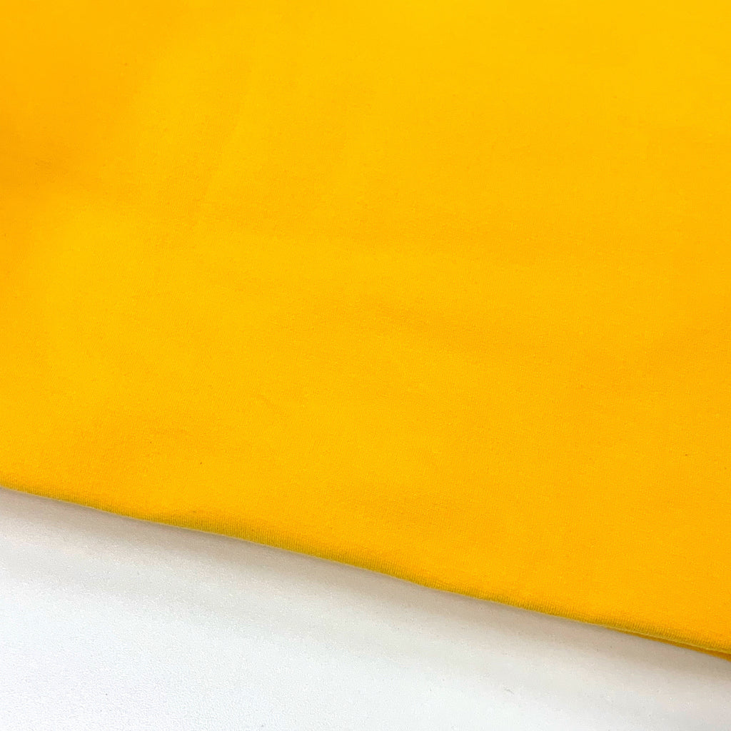 #7 Sunshine Yellow Cotton Lycra Solid (1M CUTS ONLY)