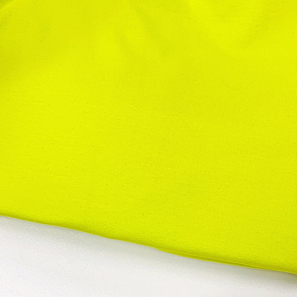 #8 Electric Lime Cotton Lycra Solid