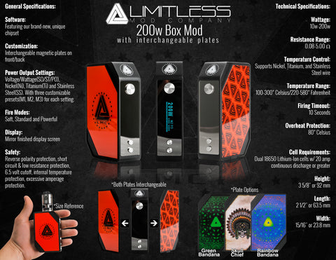 IJOY Limitless LMC 200W TC Box Mod