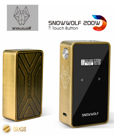 Snowwolf 200W Touch Button Brass