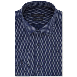 Tommy Hilfiger Mens Slim Fit Stretch Button Up Dress Shirt