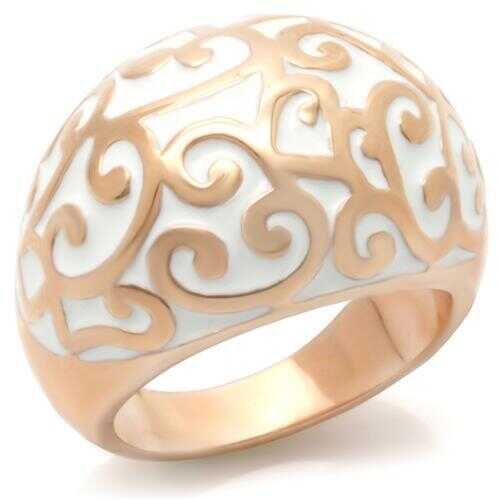 0W210 - Brass Ring Rose Gold Women No Stone No Stone