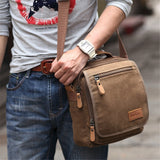 Men's  Canvas Messenger Shoulder Bag Handbag Outdoor Travel Hiking Bag