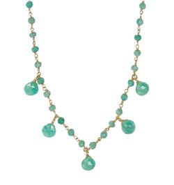 Amazonite Droplet Vermeil Necklace