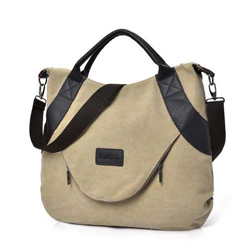 Women Canvas Casual Shopping Handbag
