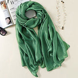 Solid Soft Silky Bridal Evening Wedding Scarf Shawl Wrap