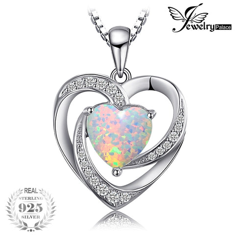 JewelryPalace Love Heart 2.54ct  Opal  925 Sterling Silver