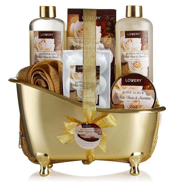 Spa Gift Basket, Luxury 13 Piece Bath & Body Set For Men & Women,