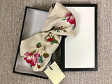 Designer G Silk Cross Scarf