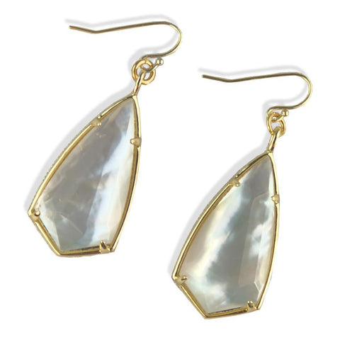 Mother of Pearl Pear Earrings