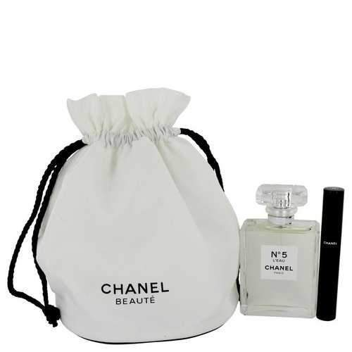 Chanel No. 5 L'eau by Chanel Gift Set -- 3.4 oz Eau De Toilette Spray + Le Volum