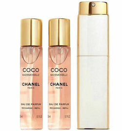 CHANEL COCO MADEMOISELLE Eau de Parfum Twist and Spray NiB SIZE 3 x 0.7 oz.