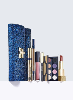 Estee Lauder All Out Glamour 6 full size mascara lipstick lipgloss eyeshadow