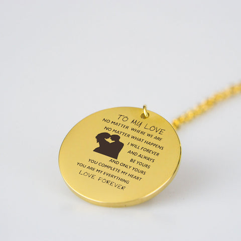 To My Love - Gold Pendant