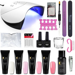 Poly Gel Kit 36W UV/LED Nail Lamp and  Gel Kit