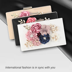 Women's Flower Clutch  Evening Wedding Banquet Handbag