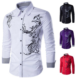 Men Casual Men Dress Shirt Chemise