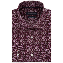 Tommy Hilfiger Mens Floral Button Up Dress Shirt