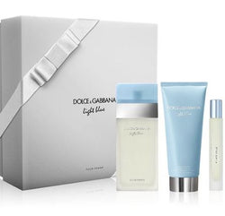 ($159 Value) Dolce & Gabbana Light Blue Perfume Gift Set for Women- 3 Pc