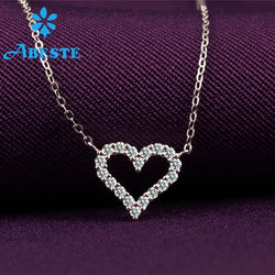ANI 18K Solid   0.18 ct Real Diamond Necklace Chain Heart Shape