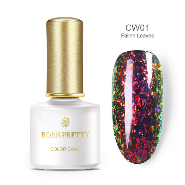 BORN PRETTY  Peacock Holographic glitter gel nail polish