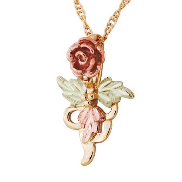 Black Hills Gold Rose Pendant