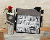 Handbag, Crossbody purse, Everyday bag, Fabric shoulder bag