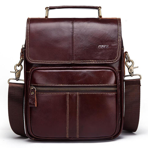 GZCZ High Quality Leather Men's Messenger Bag