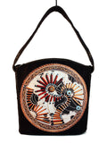 Boho vegan leather bag, Hippie bohemian bag, Music festival gypsy purse