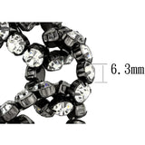 LO3831 Ruthenium Brass Bracelet with Top Grade Crystal in Clear