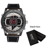 Boamigo LED digital watches leather wristwatches