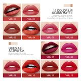O.TWO.O Matte Velvet Lip Gloss Smooth Liquid Lipstick