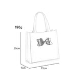 QQ2064-4 Beige  -  Boutique Glossy Shopper Bag Handbag with Zip