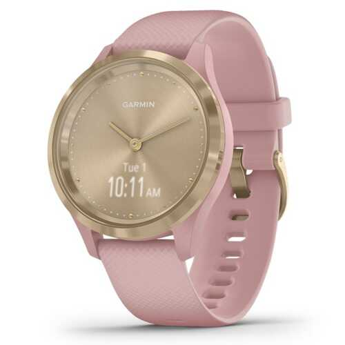 Garmin Vivomove 3s Hybrid Smartwatch (light Gold Stainless Steel Bezel With Dust Rose Case And Silicone Band) (pack of 1 Ea)