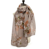 SF1201 KHAKI - Small Butterfly Pattern Scarf For Women