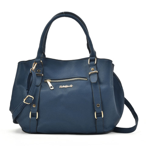 SY2157-1 NAVY - Sally Young Tote Bag With Studs Design