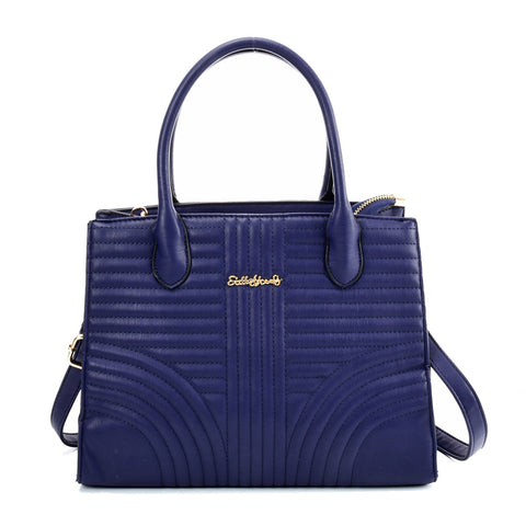 SY2189 BLUE - Simple Solid Color Handbag