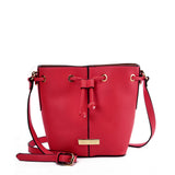 SY2201 RED - Bundle Pocket Bucket Bag For Women