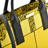 SY2209 YELLOW - Simple Handbag With Stone Grain For Women