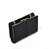 SY5052 Black - Short Wallet With Geometric Pattern