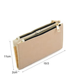 SY5054 Beige - Long Wallet With Flap Design