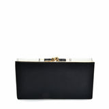 SY5060 BLACK - Long Wallet With Colour Collision Splicing Design