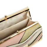 SY5061 BEIGE - Luxury Wallet With Colour Collision Splicing Design